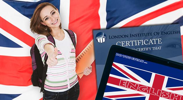 Online kurz anglického jazyka od London Institute of English vrátane certifikátu