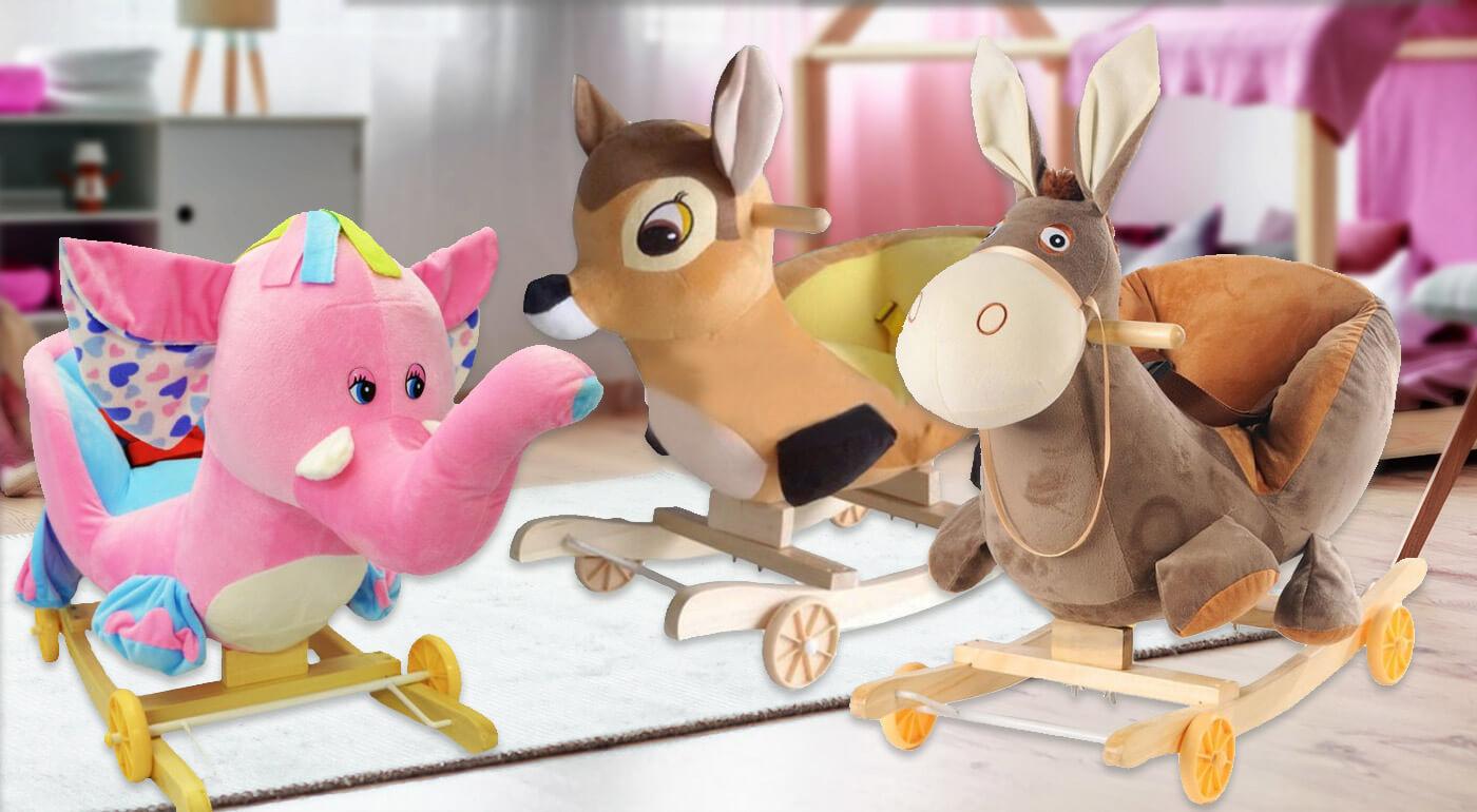 Hojdacie zvieratko z jemného plyšu s krásnymi melódiami - dá sa zmeniť aj na detské odrážadlo!