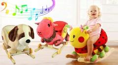 Zľava 28%: Hojdacie zvieratko z dreva a kvalitného plyšu len za 49,90 € vrátane poštovného. Obsahuje preklápacie kolieska na odrážanie a po stlačení uška hrajú príjemné melódie. Na výber z 6 krásnych variantov.