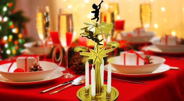 Tradičný vianočný svietnik anjelské zvonenie