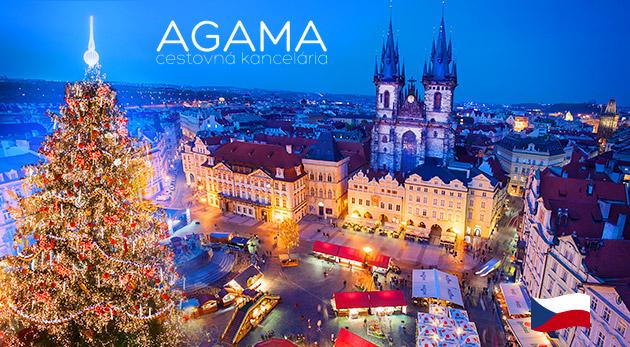 1-dňový zájazd na vianočné trhy v Prahe pre 1 osobu za 37 €: doprava autobusom, prehliadka mesta, služby sprievodcu