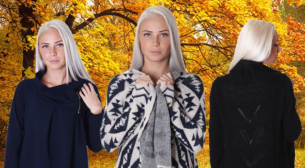Pletený sveter, kabátik alebo sako do chladnejšie počasia