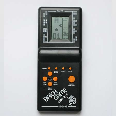 Hra Tetris - čierna farba