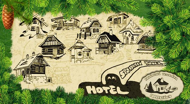 Našli sme cestu do rozprávky - Hotel Podlesí s polpenziou a bazénom v rezorte Pohádkovej vesničky Podlesíčko