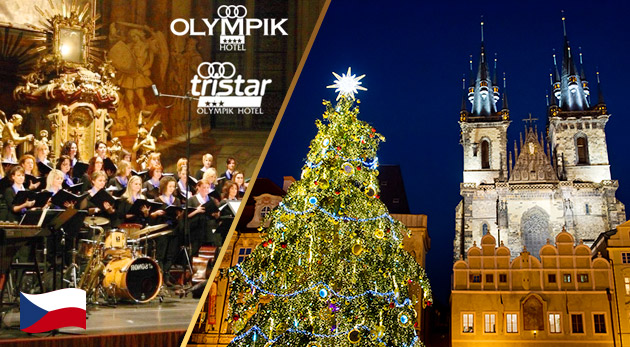Adventný víkend v Prahe pre dvoch, rozsvietenie stromčeka a Vianočný koncert Carmina Bohemica