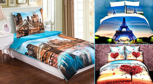 Štýlové 3D posteľné obliečky na jednolôžko - na výber z 12 vzorov
