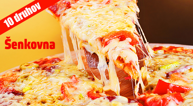 Veľká pizza v košickom pube Šenkovna - na výber z 9 druhov