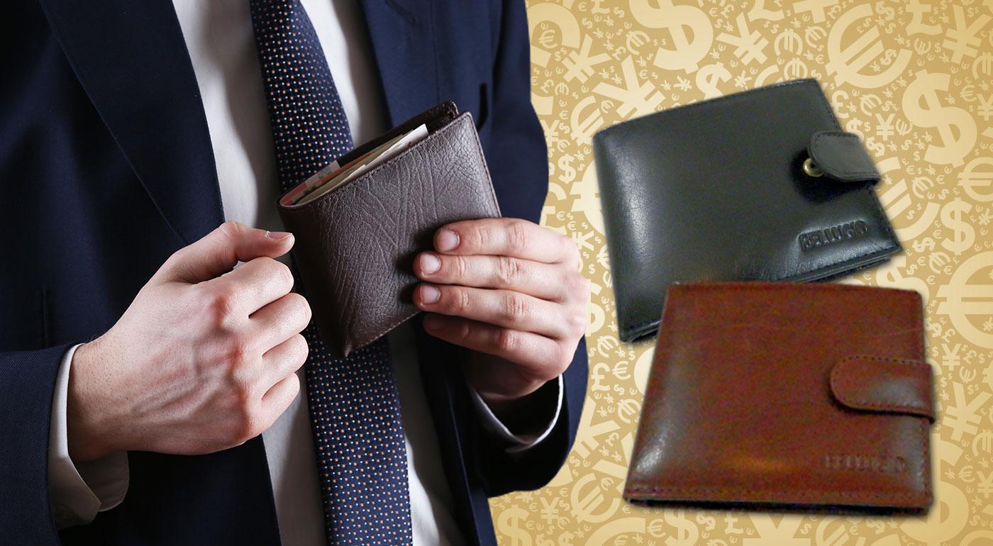 Elegantná pánska kožená peňaženka - na výber v dvoch farbách
