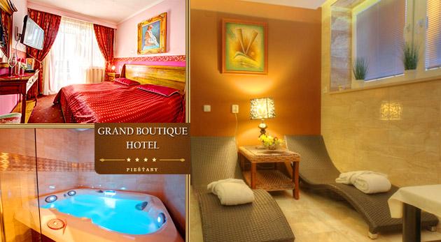 Večer plný romantiky vo dvojici v elegantnom Grand Boutique Hoteli Sergijo**** v Piešťanoch