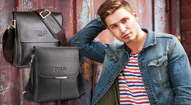 Elegantné pánske POLO tašky v čiernej alebo hnedej farbe