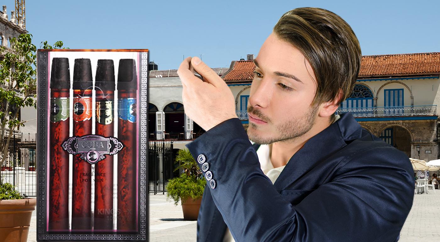 Sada 4 pánskych vôní Cuba v darčekovom balení s imitáciou cigár