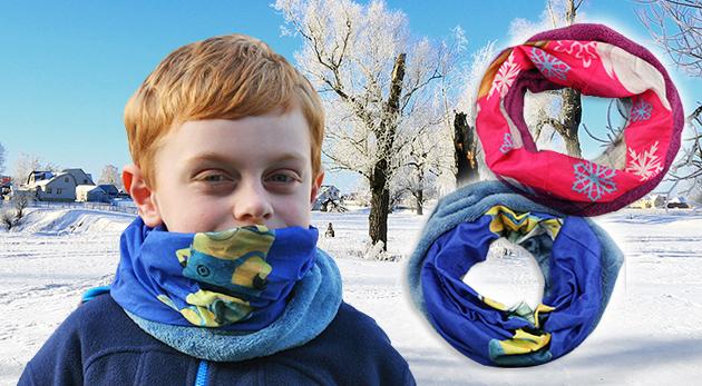 Obľúbený a praktický nákrčník pre deti do chladnejšieho počasia