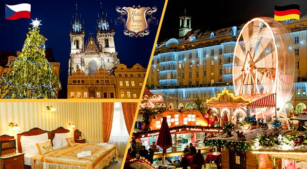 Predvianočná Praha s pobytom v historickom Hoteli Praga 1885**** a s celodenným zájazdom do Nemecka