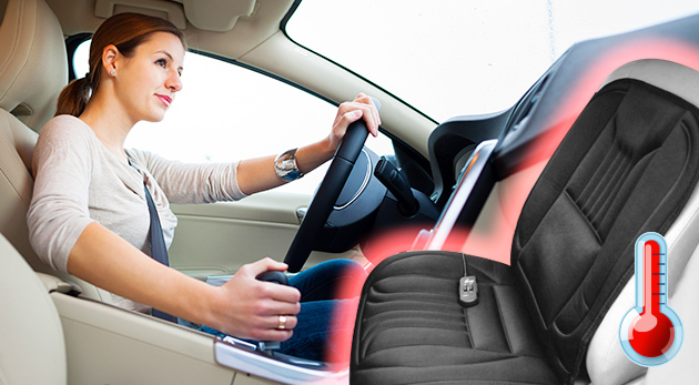 Cestujte v pohodlí a teple s vyhrievacou podložkou na sedadlá do auta
