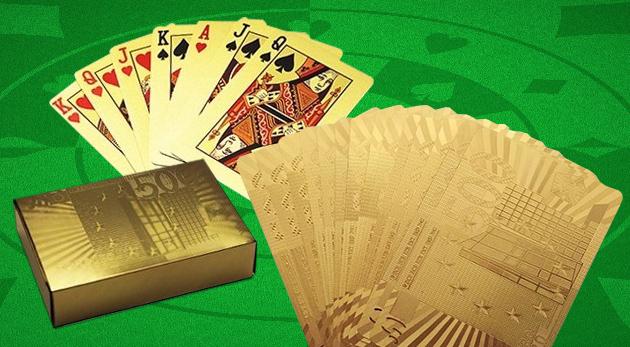Exkluzívne zlaté pokrové karty