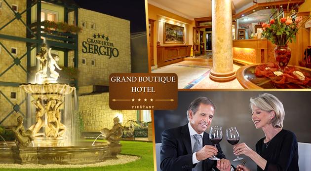 Výborný relax pre seniorov v GRAND BOUTIQUE HOTEL SERGIJO**** v Piešťanoch