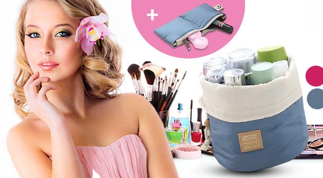 Praktická taška s priehradkami v ružovej alebo modrej farbe. Bonus ku každej objednávke!