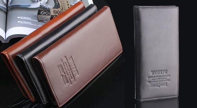 Priestranná pánska peňaženka v 3 farbách