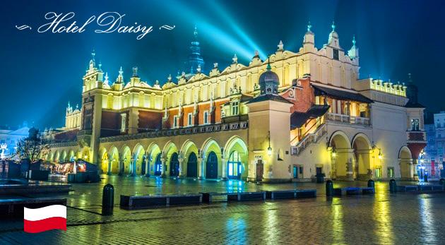 Zimný pobyt v historickom a kráľovskom meste Krakov v Hoteli Daisy***