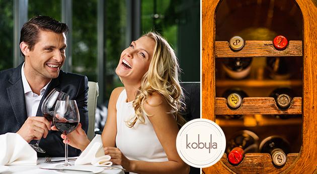 Posedenie pri exkluzívnom vínku pre dvoch s labužníckou misou v Café Kobyla v Bratislave