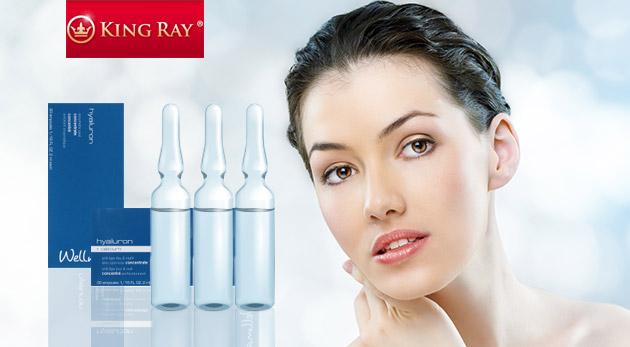 Kvalitná kozmetika s kyselinou hyalurónovou - enzýmový peeling alebo koncentrát s vápnikom v ampulkách