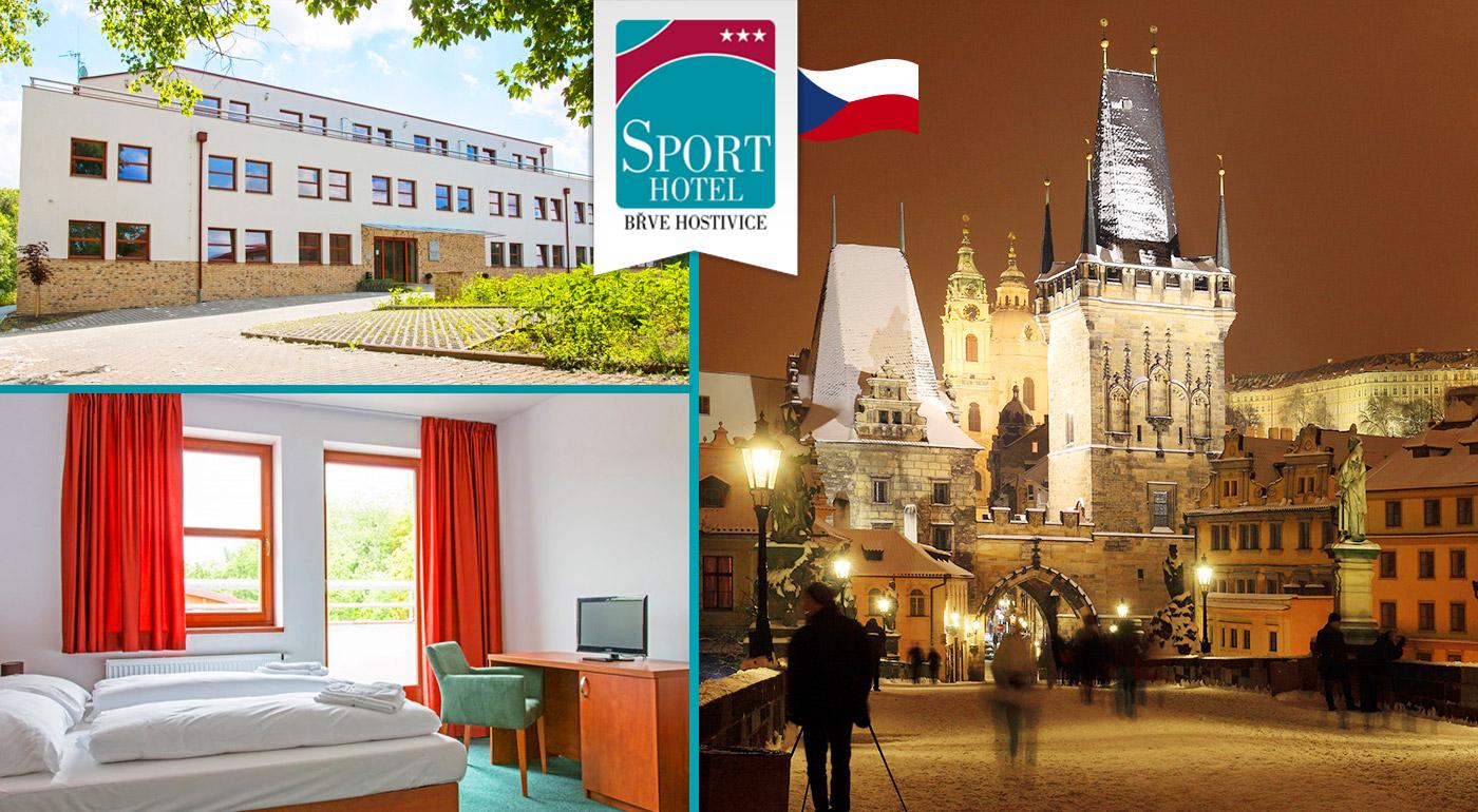 Relax blízko Prahy v Sporthoteli Břve Hostivice*** s raňajkami, drinkom a večerou