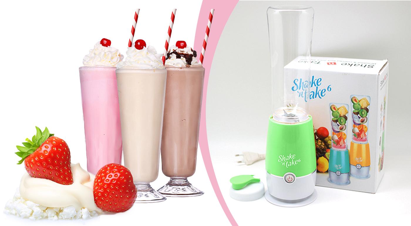 Praktický mixér Shake 'n take 6 vám pripraví vitamínovú bombu za pol minúty! Potočte nádobkou a máte z nej praktickú fľašku!