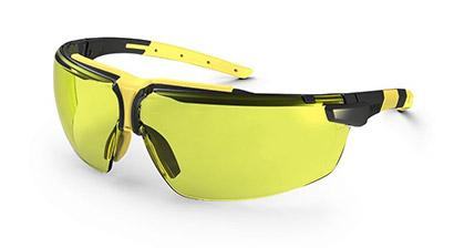 Okuliare UVEX nové, žlté + ochranné vrecúško UVEX z mikrovlákna