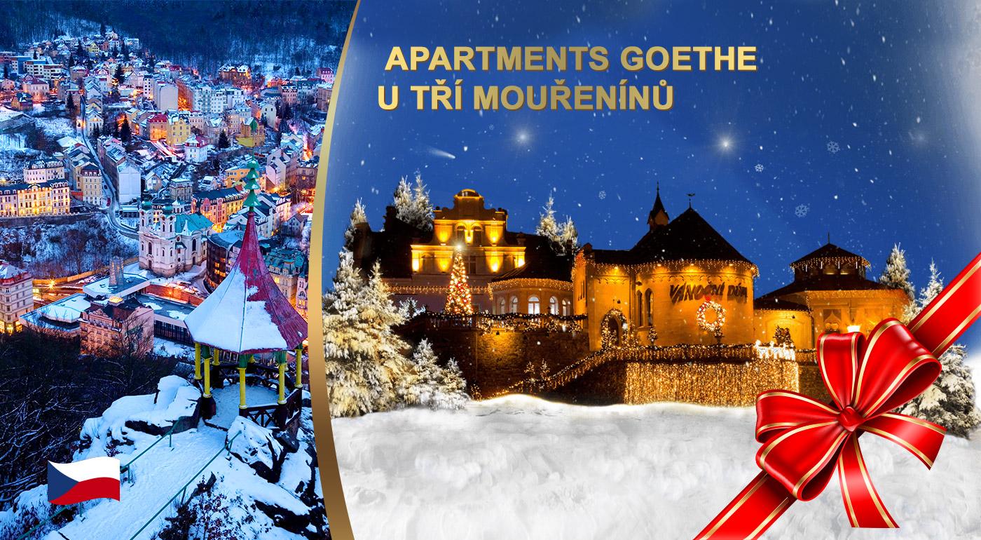 Vianočný pobyt v Apartmánoch Goethe v U Tří mouřenínů v kúpeľnom centre Karlových Varov