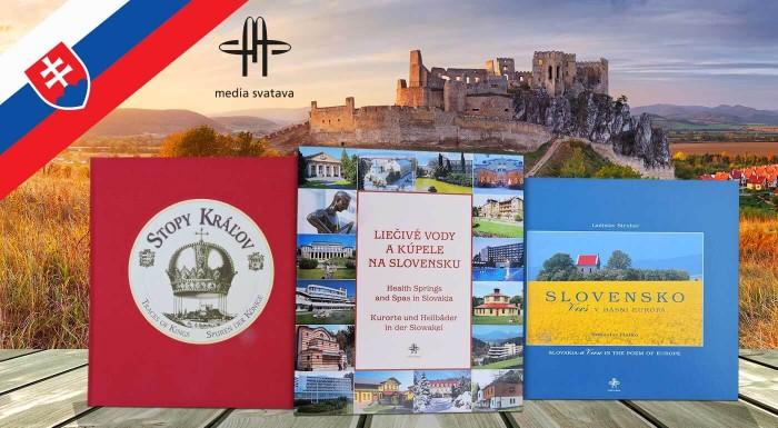 Fotka zľavy: Obdarujte svojich blízkych jedinečným darčekom. Kvalitne spracované reprezentačné publikácie o Slovensku vydavateľstva Media Svatava už od 12 € . Na výber 5 titulov s množstvom ilustrácií.