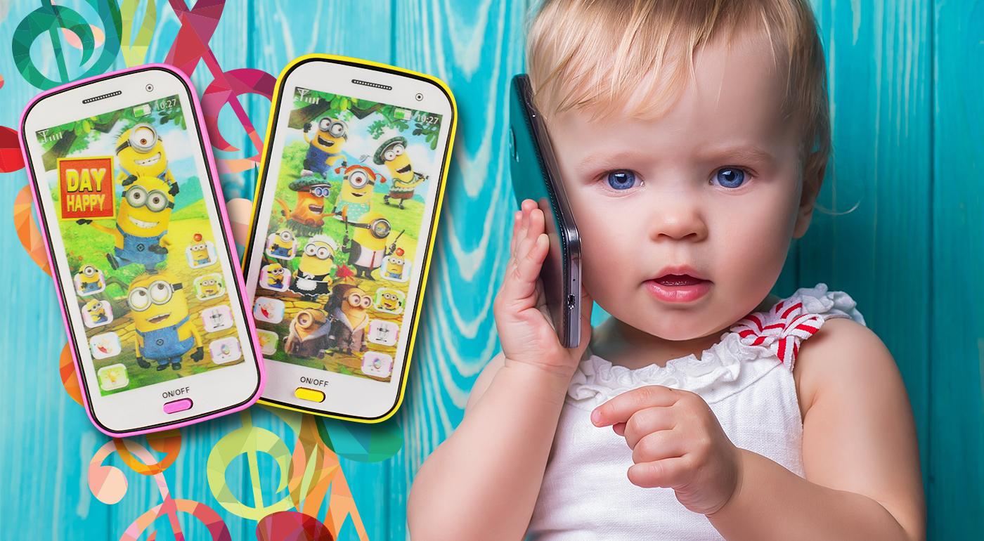 Veselé dotykové mobily s Mimoňmi, ktoré svietia, spievajú aj učia anglicky vaše deti