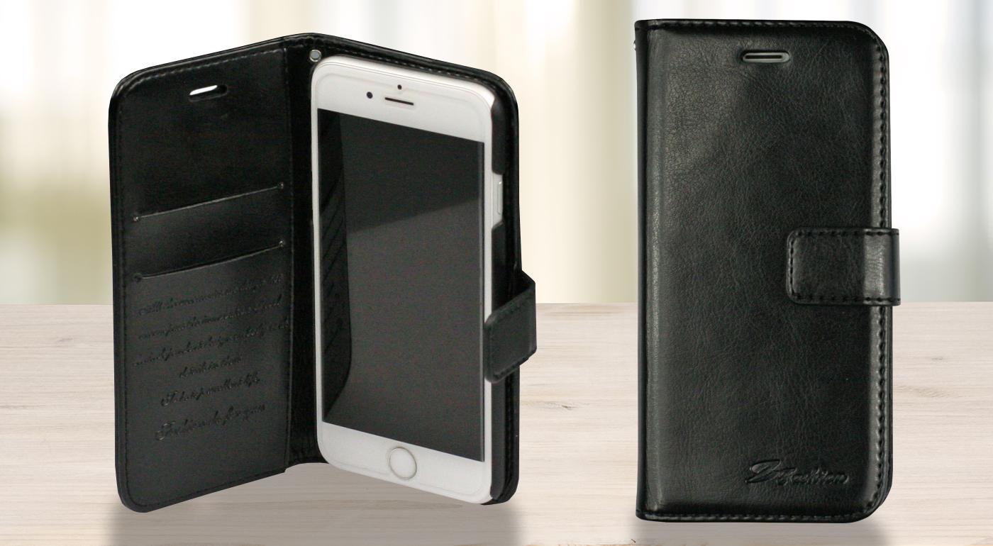 Pevný kožený obal na iPhone 6/6s slúžiaci zároveň aj ako peňaženka