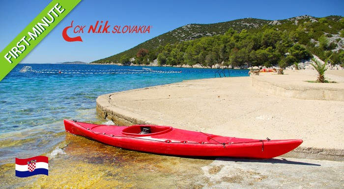 Fotka zľavy: Využite first minute ponuku a užite si jedinečnú chorvátsku atmosféru počas 8 dní v mestečkách Vodice alebo Tribunj už od 70 €. Ubytovanie blízko mora. Ideálna dovolenka pre rodinky s deťmi!