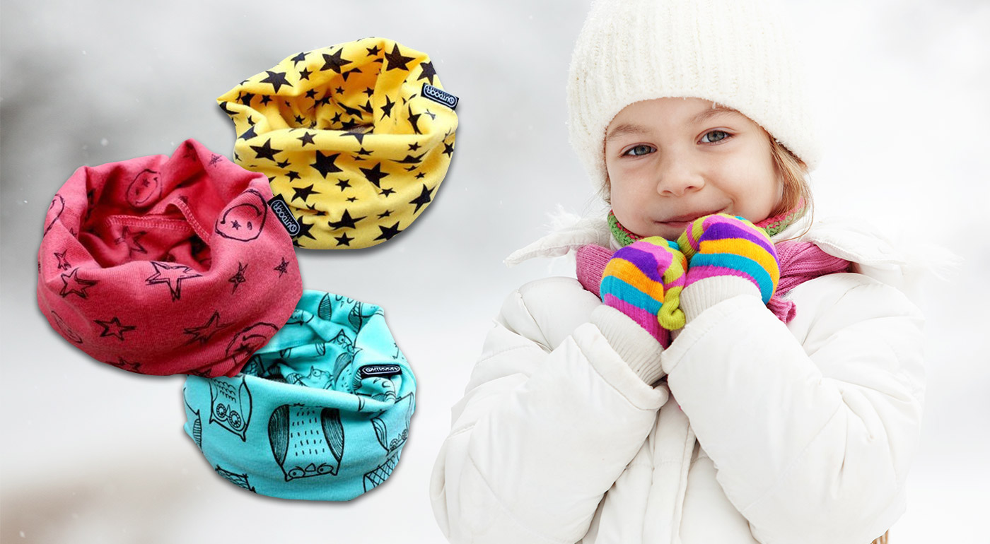 Krásny univerzálny nákrčník pre deti aj tínedžerov v 3 štýlových vzoroch a 4 farbách