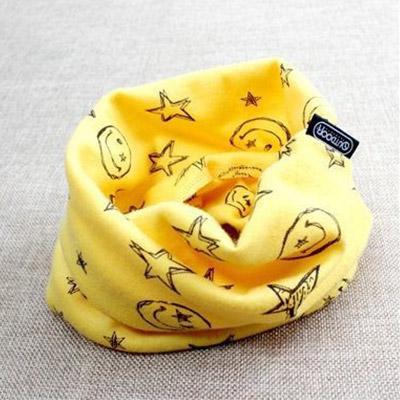Hrejivý nákrčník pre deti a tínedžerov - vzor úsmev - žltý