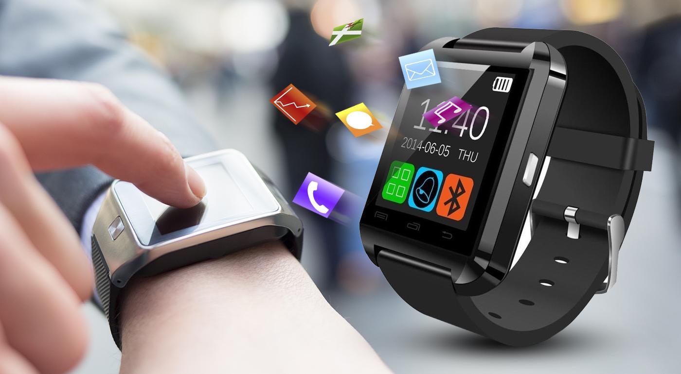 Inteligentné hodinky Smart Watch, ktoré fungujú na princípe spojenia hodiniek s mobilom alebo s tabletom cez bluetooth