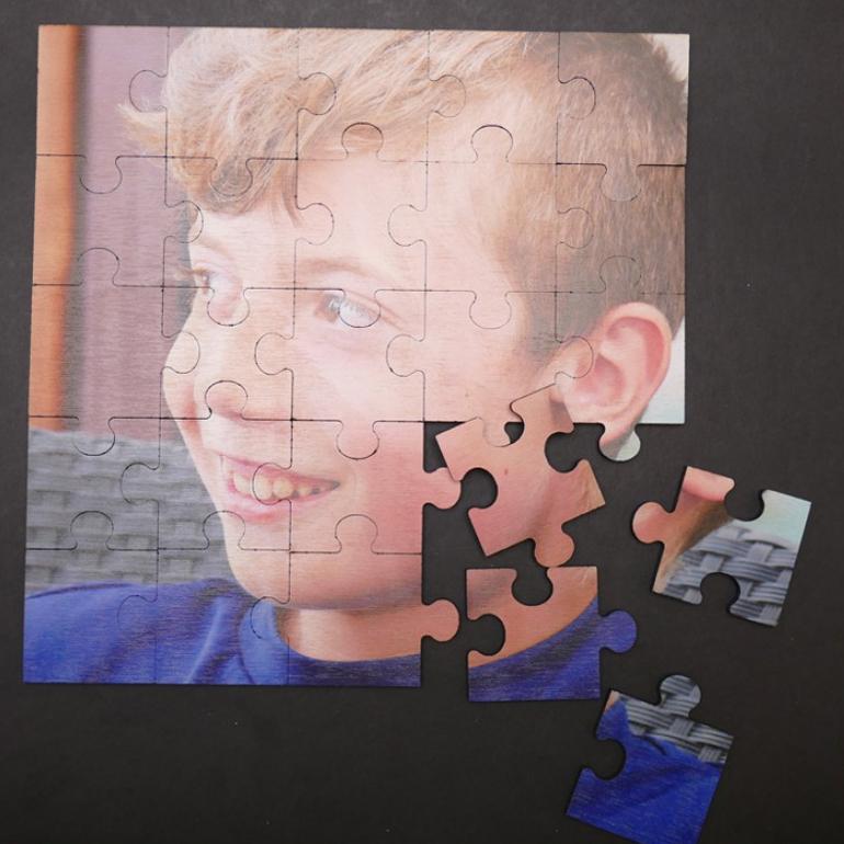 Drevené puzzle s vlastnou potlačou 30x30 cm
