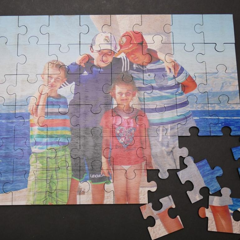 Drevené puzzle s vlastnou potlačou A4