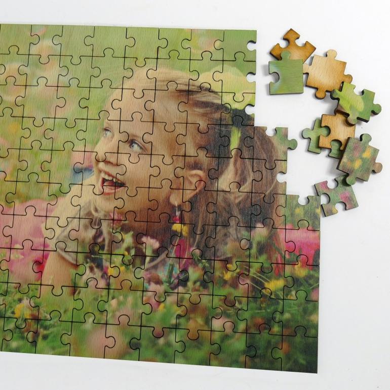 Drevené puzzle s vlastnou potlačou 45x30 cm