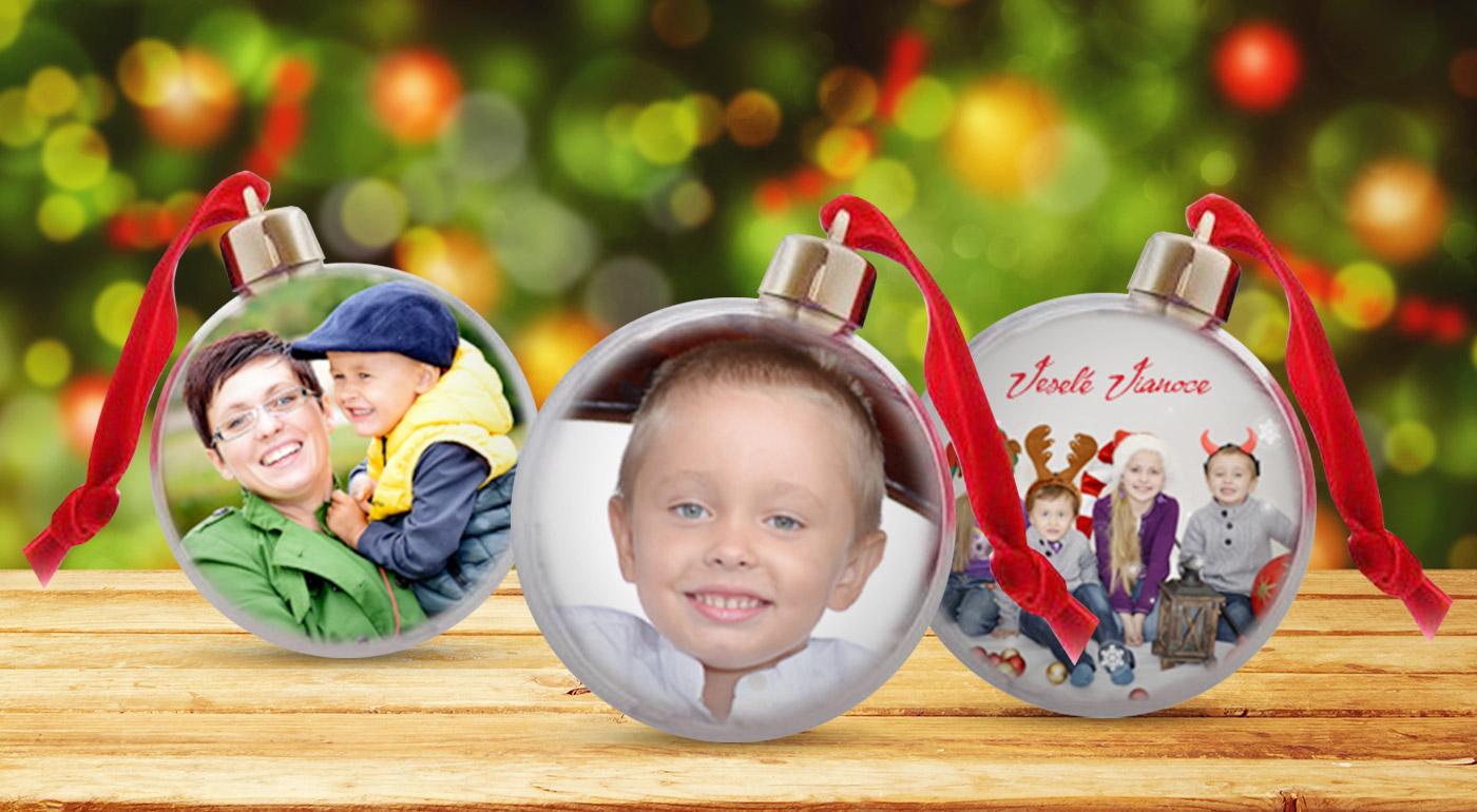 Vianočná guľa s vlastnou fotografiou. Vyrobte si jedinečnú ozdobu a potešte svojich  blízkych! b088d836e9e