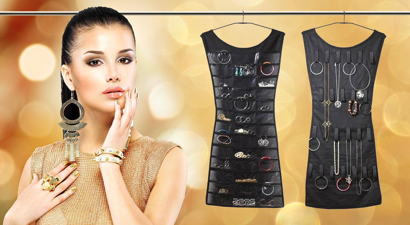 Praktický organizér šperkov pre dokonalý poriadok len za 2,90 €. Závesný systém, s ktorým svoje módne šperky nájdete jednoducho a rýchlo.