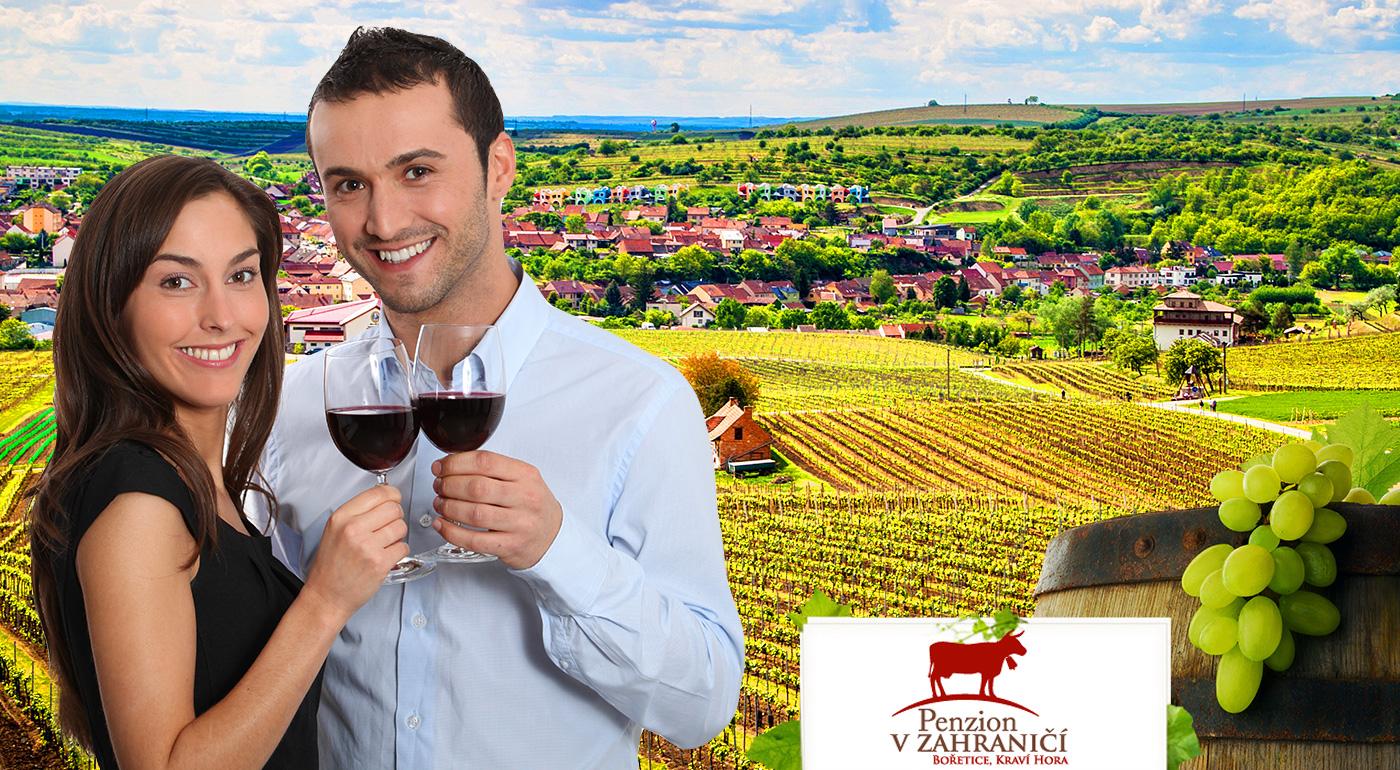 Vinársky pobyt pre dve osoby v Penzióne v zahraničí - Bořetice Kraví Hora na Morave - vínko, chutné jedlo, lahodný burčiak a vy!