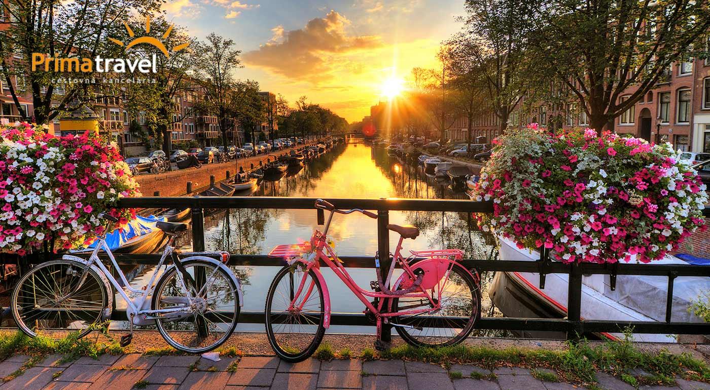 4-dňový zájazd do Holandska s návštevou krásneho Amsterdamu, skanzenu Zaanse Schans a svetoznámej výstavy kvetov