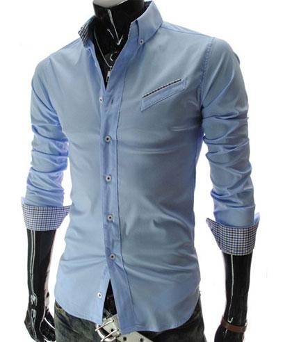 Moderná pánska košeľa slim-fit jednofarebná