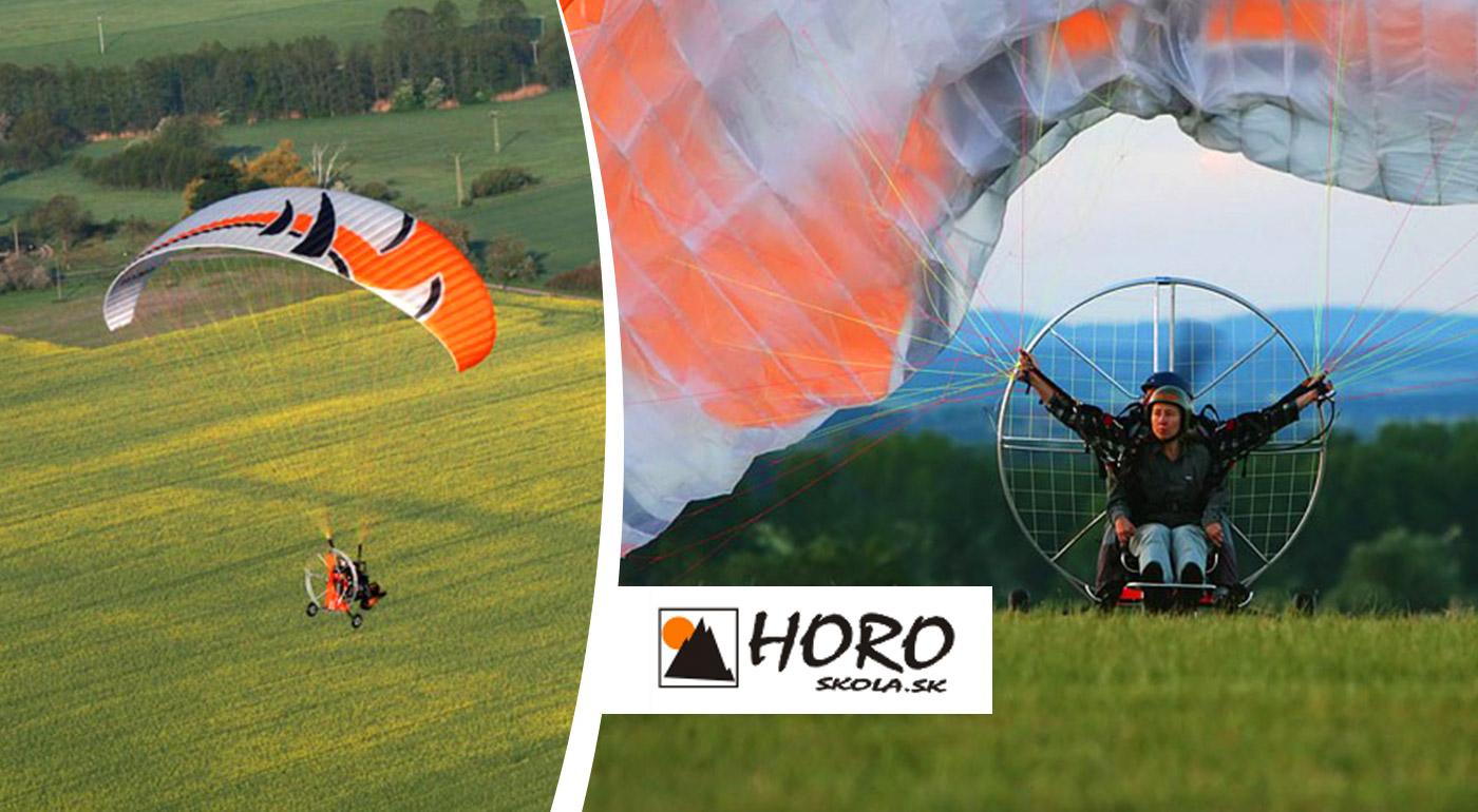 Tandemový motorový paragliding okolo Liptovskej Mary na 15 alebo 45 minút! Odpútajte sa od zeme a užite si pohľad na Liptov z výšky!
