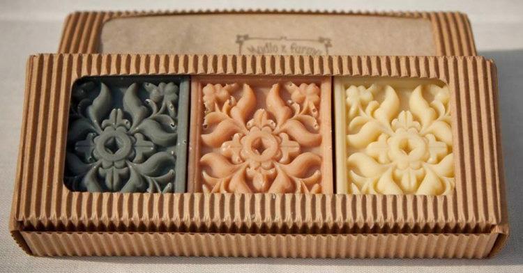 Darčekové balenie ANTIK - 3 kusy mydielok