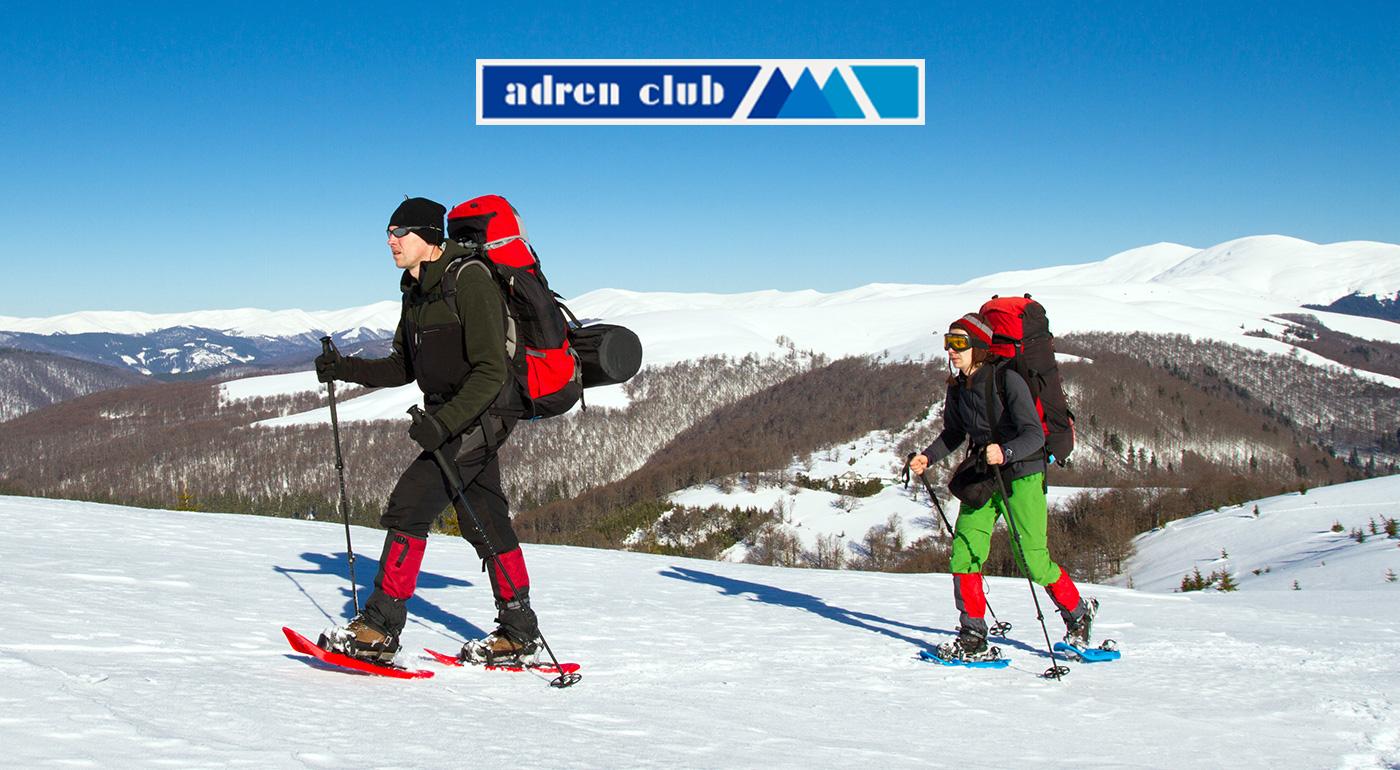 Zimná turistika v Alpách so snežnicami s Adren Club