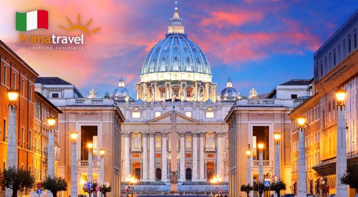 Fotka zľavy: Navštívte historický Rím a Vatikán počas 5 dňového zájazdu len za 169 € pre jednu osobu s Prima Travel. V cene doprava, ubytovanie, raňajky a služby sprievodcu. Strávte Veľkú noc netradične!