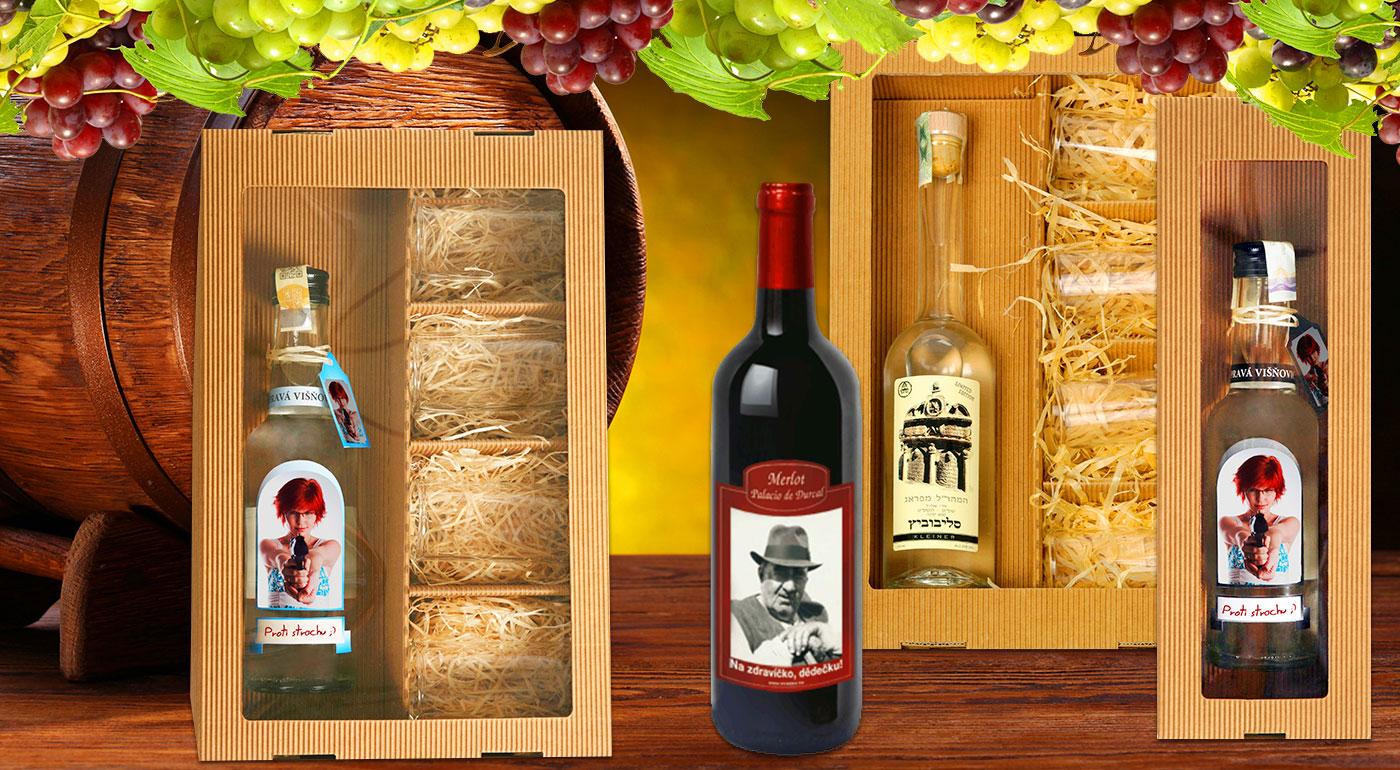 Vyjadrite city inak - víno alebo višňovica s vlastnou fotografiou a prianím