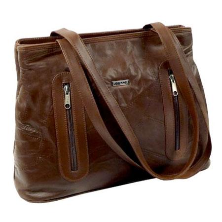 C2. Dámska kožená kabelka GUIDO BANINI - hnedá